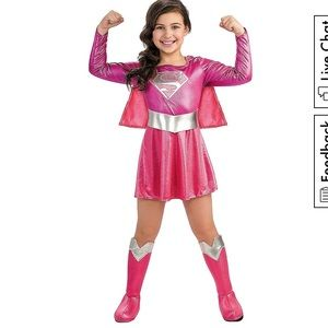 NWT pink shimmery Super Girl costume